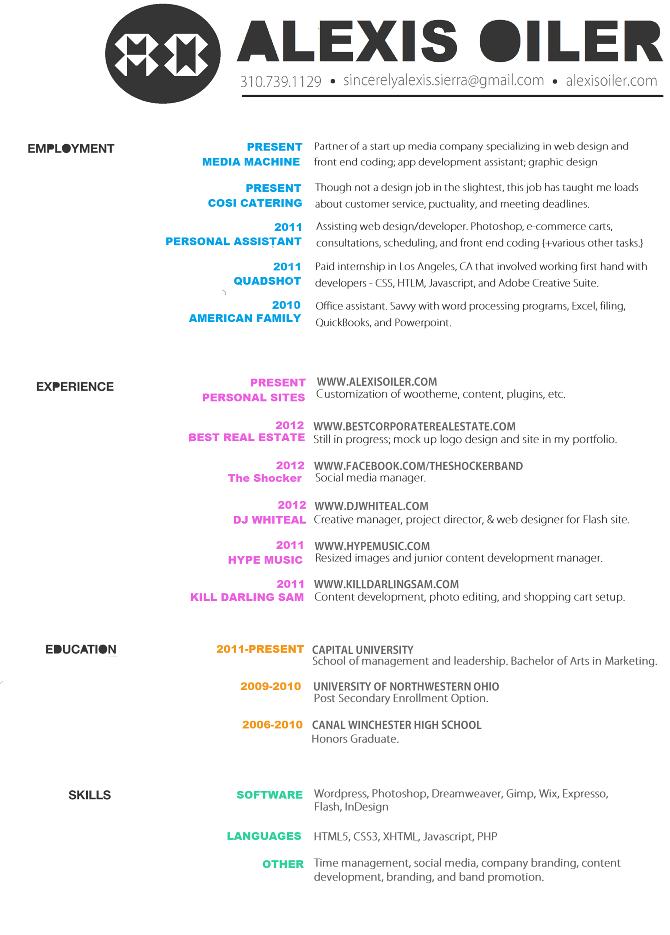 professional graphic designer resume graphic design resume examples